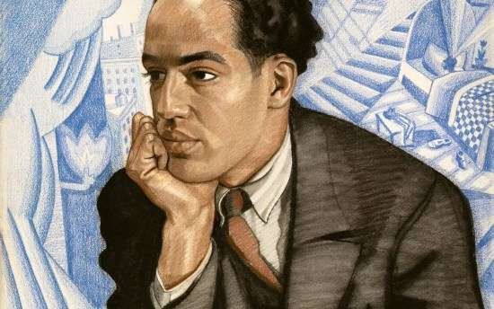 Langston Hughes, by Winold Reiss. (AP Photo/National Portrait Gallery)
